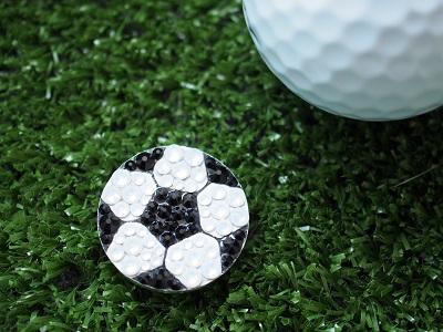 サッカー サッカーボール スワロフスキー ゴルフマーカー ゴルフ ゴルフ場 ゴルフサークル ゴルフスクール ゴルフコンペ ホールインワン 景品