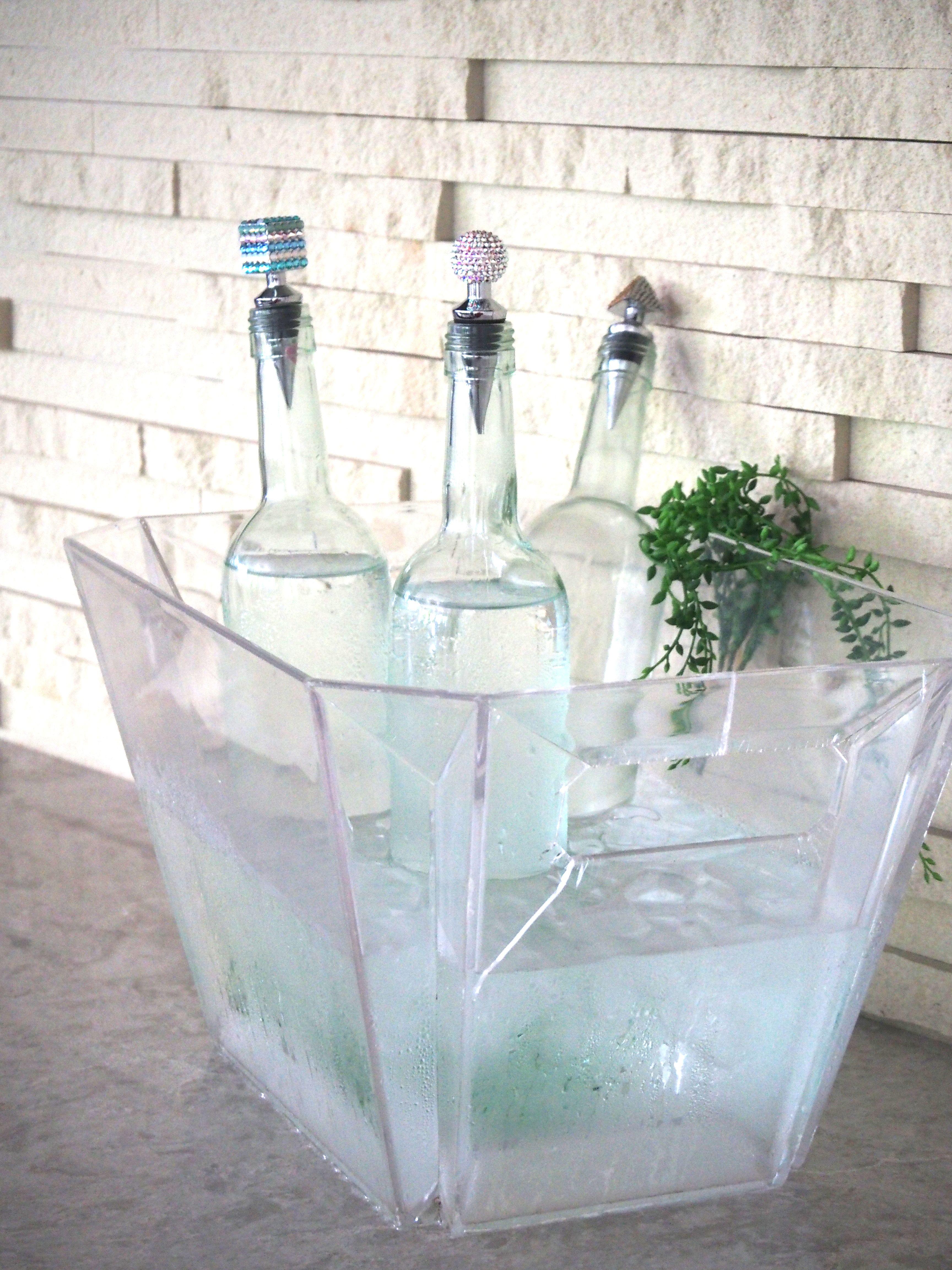 スワロフスキー ワインCAP ウォーターCAP デトックスウォーター オシャレ ワイン インテリア キラキラ