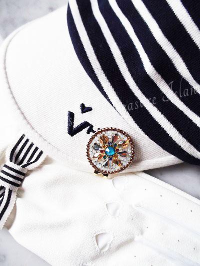 ゴルフマーカー モロッコ風 スワロフスキー キラキラ 可愛い オシャレ ゴルフコンペ 景品 Treasure isaland