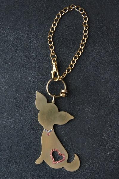 スワロフスキー チワワ 犬 チャーム キラキラ 可愛い オシャレ 犬 犬好き プレゼント ギフト 誕生日 Treasure island